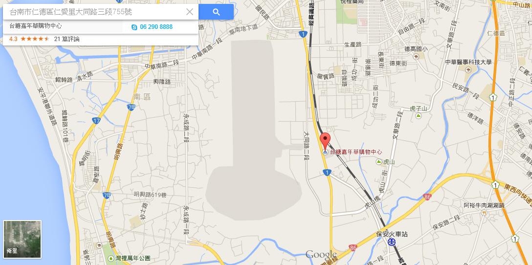 點擊google地圖-嘉年華購物中心